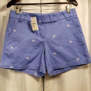 NWT J. CREW Dragonfly Shorts.